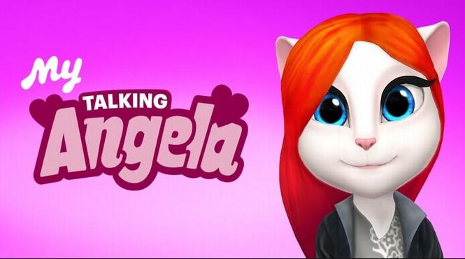 Моя Говорящая Анджела взломанная на Андроид