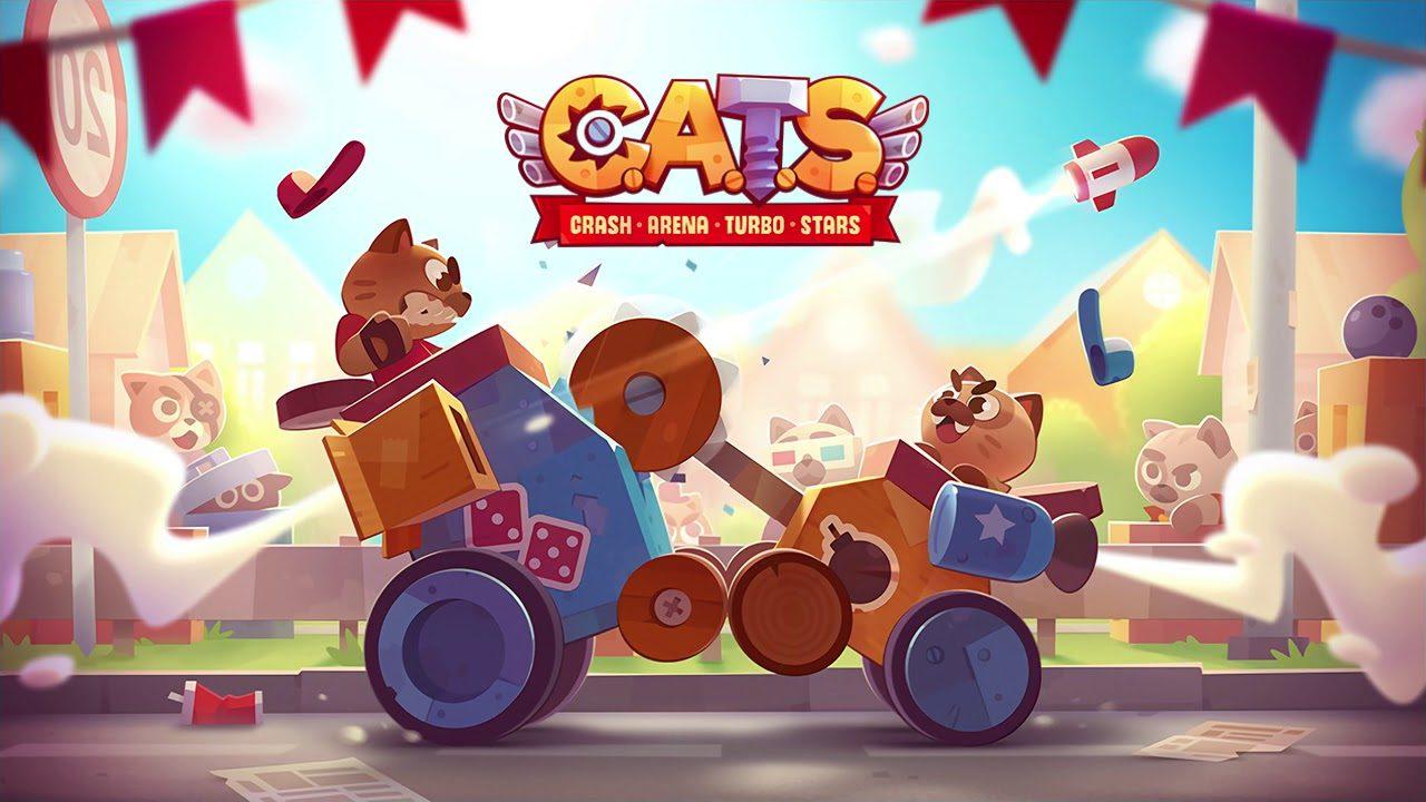 Взломанная CATS: Crash Arena Turbo Stars [много денег] на Андроид