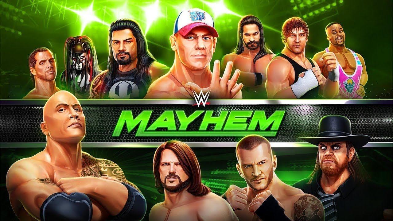 Взломанная WWE Mayhem на Андроид