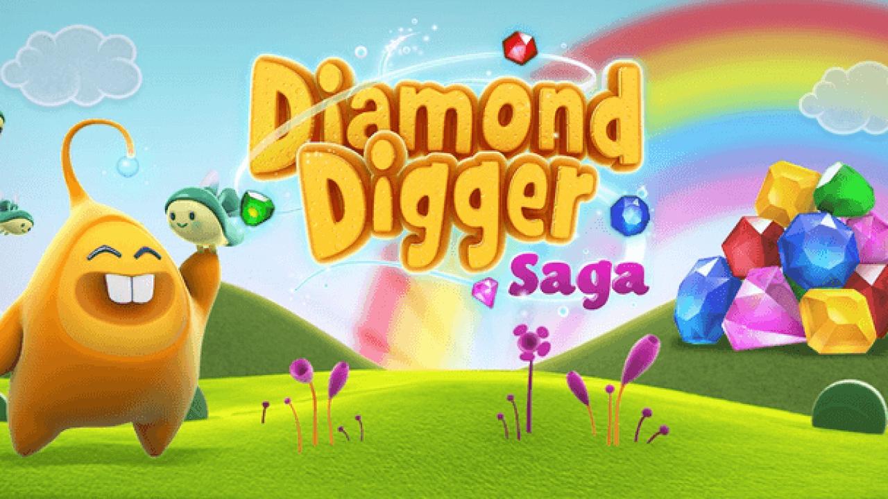 Взломанная Diamond Digger Saga [мод много денег] на Андроид